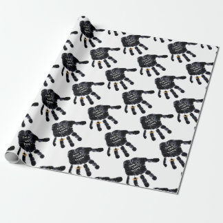 Handprint Design with Ring with Grab it like Trump Wrapping Paper