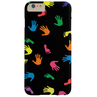 Handprint footprint multicolored barely there iPhone 6 plus case