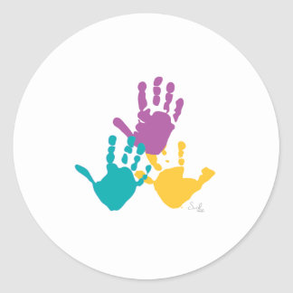 handprint round sticker