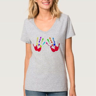 Handprints colorful! T-Shirt