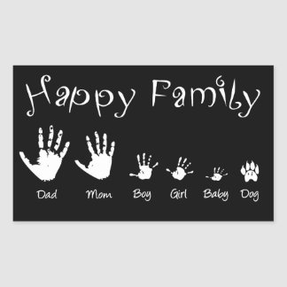 Handprints of happy family