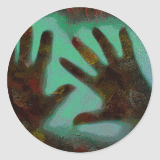Handprints Round Sticker