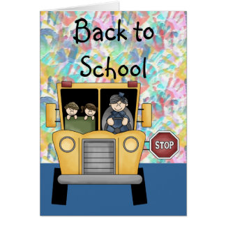 Handprints & School Bus Back to School Card