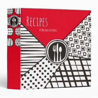 Handrawn mixed patterns utensils chef catering binders