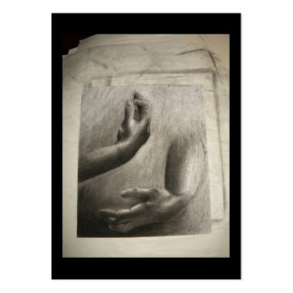 Hands 2013  Pencil Drawing Artist Trading Card Pack Of Chubby Business Cards