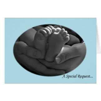 Hands and Baby Feet Boy s Godparent Request Card