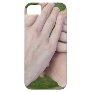 Hands arms uniting in glass sphere iPhone 5 cases