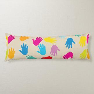 Hands around the world body pillow