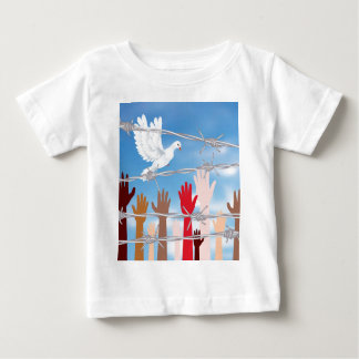 Hands Behind a Barbed Wire 2 Baby T-Shirt