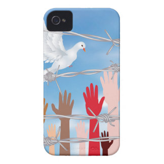 Hands Behind a Barbed Wire 2 iPhone 4 Cover