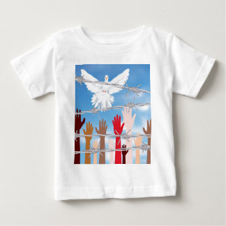Hands Behind a Barbed Wire 3 Baby T-Shirt