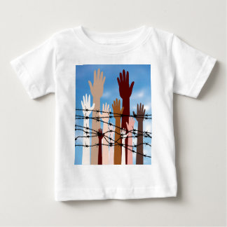 Hands Behind a Barbed Wire Baby T-Shirt