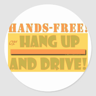HANDS FREE CROPPED ROUND STICKER