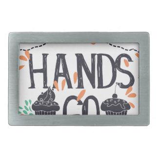 hands go here rectangular belt buckle