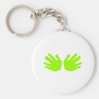 Hands Green Lt The MUSEUM Zazzle Gifts Key Chain