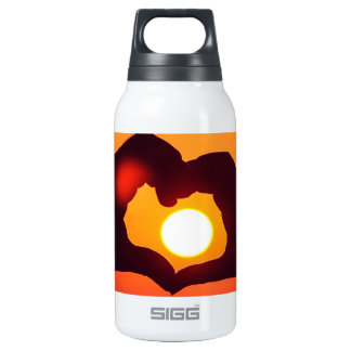 Hands Heart Symbol Love Insulated Water Bottle