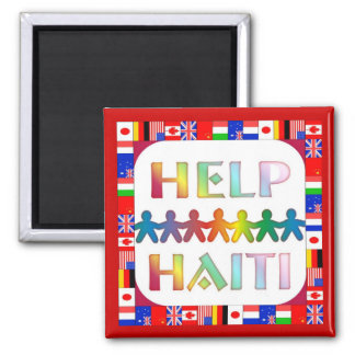 Hands Helping Haiti Magnet