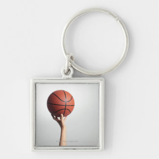 Hands holding a basketball,hands close-up keychain