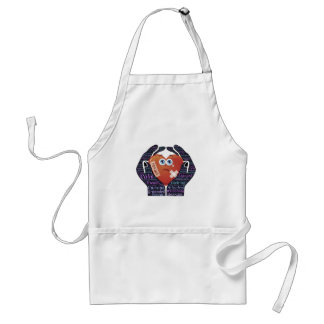 Hands holding embracing loving heart love standard apron