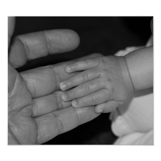 Hands in Black and White Poster