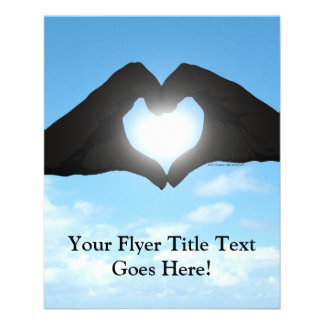 Hands in Heart Shape Silhouette on Blue Sky Flyer