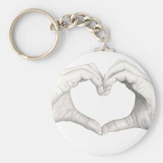 Hands in Shape of a Heart Key Chain