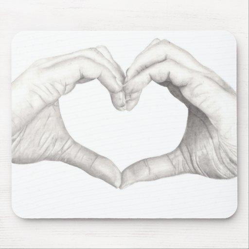 Hands in Shape of a Heart Mousepad