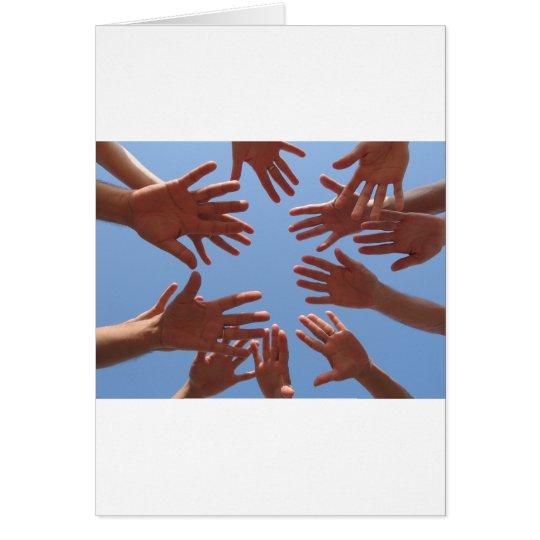 Hands In - Teamwork Card