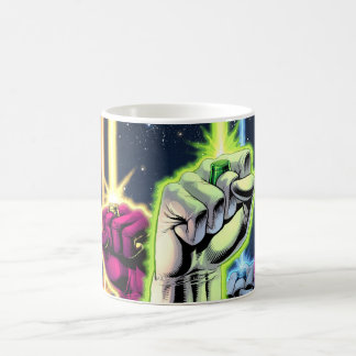 Hands in the air with rings -Color Coffee Mug
