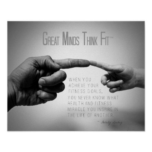 Hands of Fitness Inspiration Print