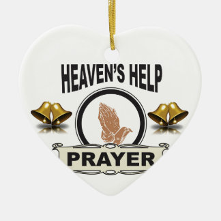 hands of help and prayer ceramic ornament