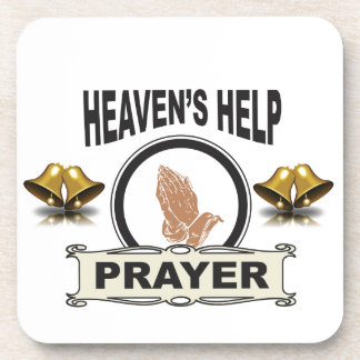 hands of help and prayer coaster
