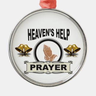 hands of help and prayer metal ornament