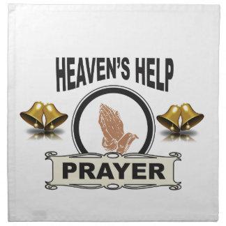 hands of help and prayer napkin