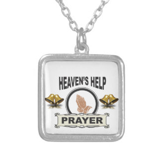 hands of help and prayer silver plated necklace