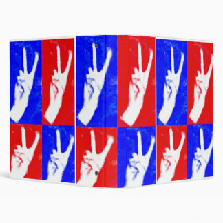 Hands of Peace-Red, White and Blue 3 Ring Binders