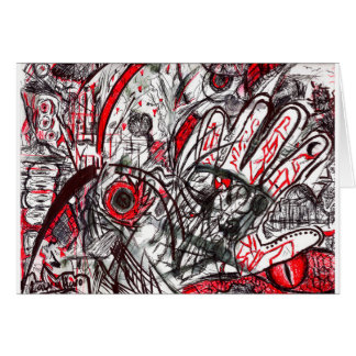 Hands of Rage Pen Drawing Card