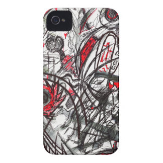Hands of Rage Pen Drawing iPhone 4 Case-Mate Case