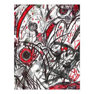 Hands of Rage Pen Drawing Letterhead