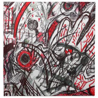 Hands of Rage Pen Drawing Napkin