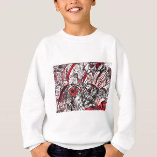 Hands of Rage Pen Drawing Sweatshirt