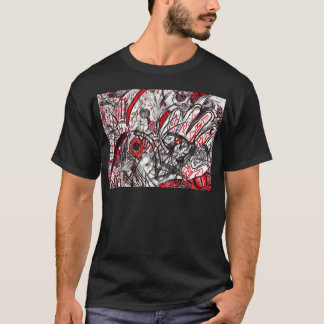 Hands of Rage Pen Drawing T-Shirt