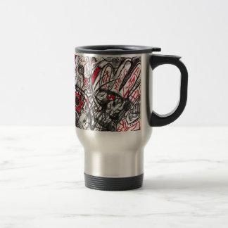 Hands of Rage Pen Drawing Travel Mug
