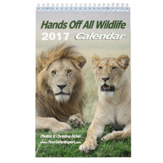 Hands Off All Wildlife Calendar (Single Page)