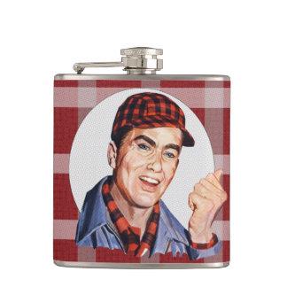 Hands off! hip flask