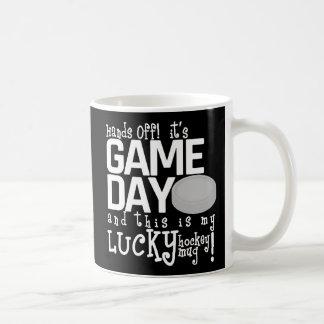Hand's Off it's Game Day Hockey Coffee Mug (Black)
