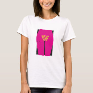 HANDS OFF MY LADY PARTS Women's White T-Shirt
