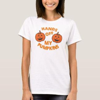 Hands Off My Pumpkins Halloween Funny T-Shirt