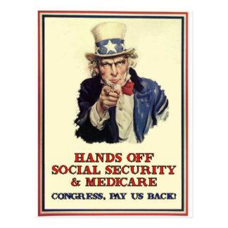 Hands Off Social Security Postcard