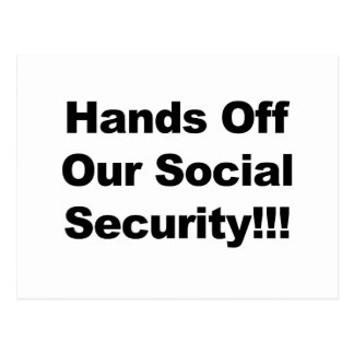 Hands Off Social Security Postcard